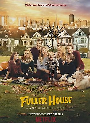 Fuller House Candace Cameron Bure Jodie Sweetin RARE DUEL-SIGNED RP 8x10 WOW!!!