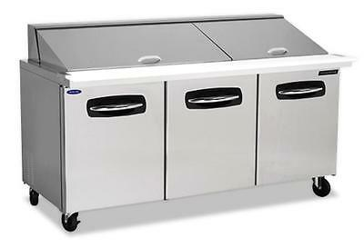 "Nor-Lake 72-3/8"" Mega Top Refrigerated Counter Sandwich or Salad Unit"