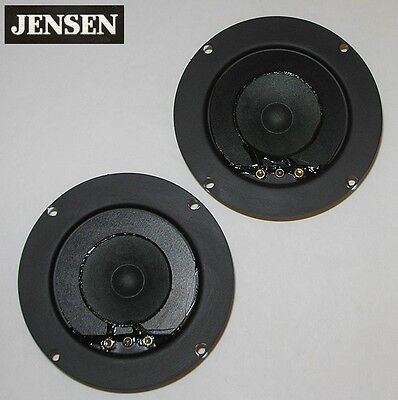 """vintage pair JENSEN C9827 1¾"""" cone tweeters for Model 20, others c.1980—perfect"""