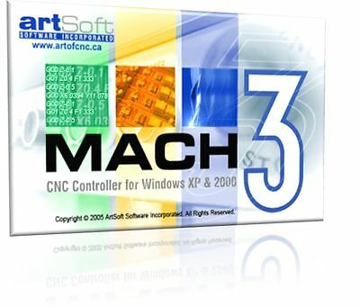 Fully Licensed Mach3 CNC Software by Artsoft! Control CNC Machines / Steppers