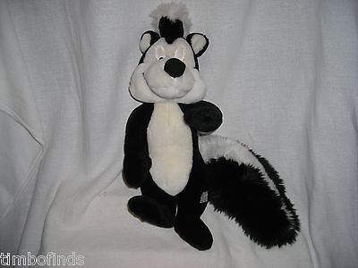 """Looney Tunes Warner Brothers Pepe Le Pew 15"""" Tall Plush Character Tv Cartoon"""