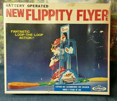 Vintage New Flippity Flyer Battery Operated Action Toy