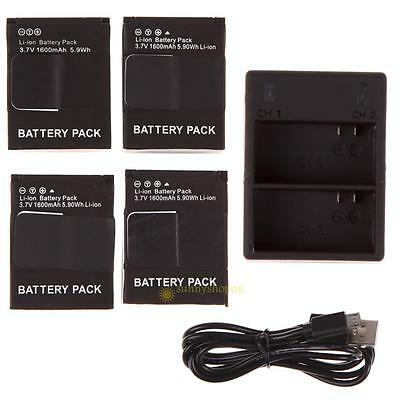 for AHDBT-301 302 1600mAh Battery For GoPro HD Hero3 3+Black/Silver USB Charger