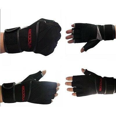 NEW Bracers Half Finger Gloves Gym Body Building Training Fitness Sports Glove