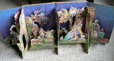 Vintage Pop Up THE NATIVITY Book Adapted from 18th C.Neapolitan Christmas Creche
