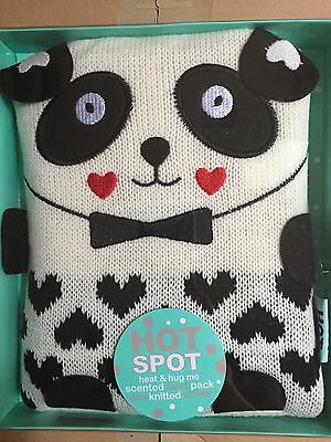 New Hot Spot Heat And Hug Me Scented Heat Pack And Knitted Cover Panda Design