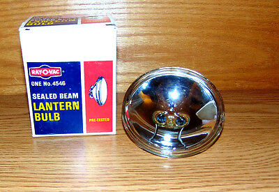 Vintage RayOVac Sealed Beam Lantern Bulb No 4546 Flashlight New Old stock 6 VOLT
