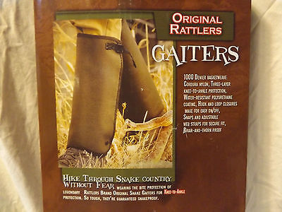 """rattlers brand gaiters snake bite protection knee - ankle  husky 21"""" calf"""