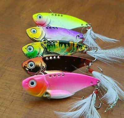 5pcs Fishing lure Bream Barra Trout Flathead Redfin Bass Whiting vibes blades