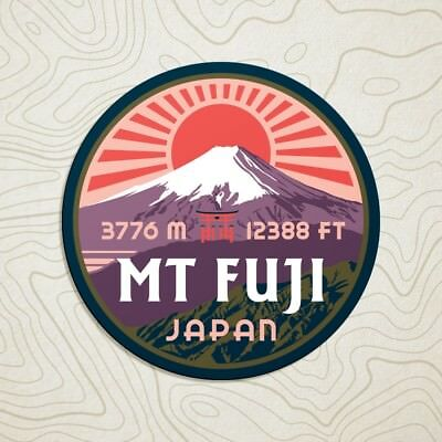 Mt Fuji Decal Sticker