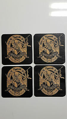 Iron Maiden beer coasters Wood Laser engraved