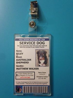 Professional Service Dog ID Card with Holder - Includes Registration