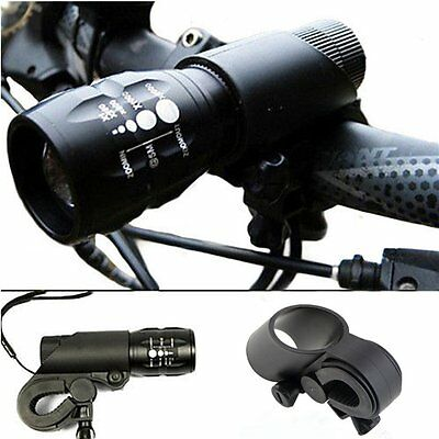 240 lumen Q5 Cycling Bike Bicycle LED Front HEAD LIGHT Torch LARM With Mount EJ