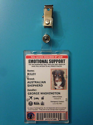 Professional Emotional Support Dog ID Card with Holder - Includes Registration