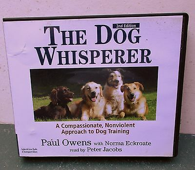 The Dog Whisperer by Paul Owen 4 CDs Nonviolent Approach to Dog Training