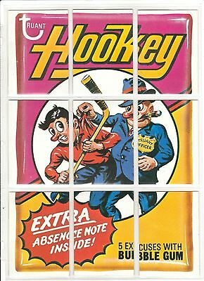 """1974 Wacky Packages 9Th Series Vintage """"hookey"""" Complete 9 Piece Puzzle Ex+/nm"""