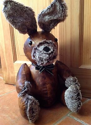 Doorstop Fabric Faux Leather Rabbit Animal Heavy Weighted Stopper Brand NEW