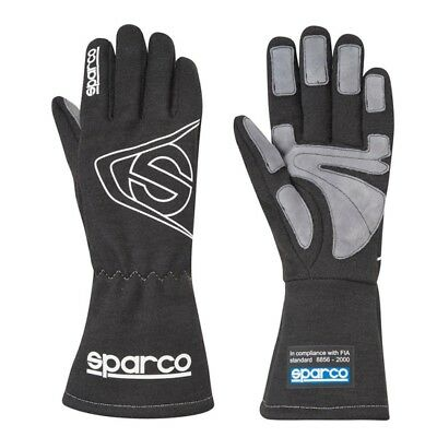 Sparco 00135409NR Land 3 Racing Gloves, Black, Size Small