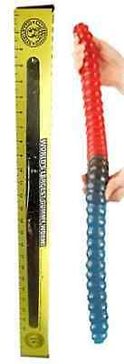 Worlds Largest GUMMY WORM Cherry S Blue Raspberry Red Candy Flavor Giant Pounds