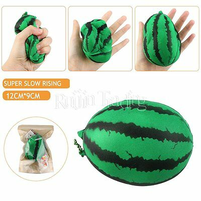 Squeeze Stretch Squishy Scented Watermelon Super Slow Rising Toy Collect Chain
