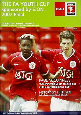 MANCHESTER UNITED v LIVERPOOL FA Youth Cup Final 2nd Leg 2007