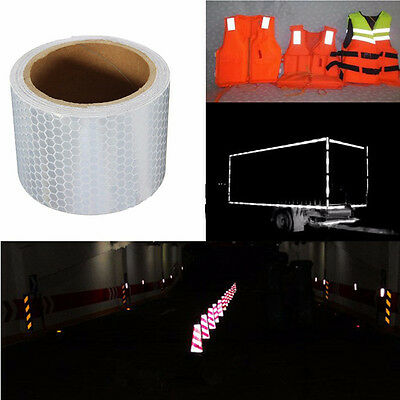 Hot Multi Night Reflective Safety Warning Tape Film Truck Sticker Label Stickers