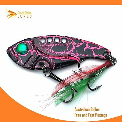 Vibes Fishing Lures Bream Barra Trout Bass Flathead Salmon Cod Metal blades