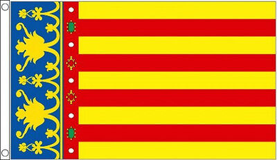 5' x 3' Valencia Flag Valencian Spain Spanish Flags Banner