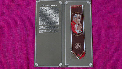 Commemorative bookmark for visit by Pope Paul 11, 1982.