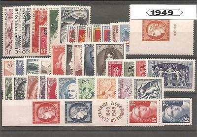 Francia France año completo 1949 Annee year complete