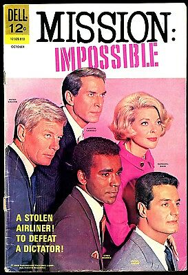 MISSION : IMPOSSIBLE #4 G-VG 1968 Dell Nice Photo Cover