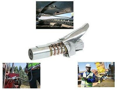 Grease Gun Coupler Fitting Tools Easy Lock-on Clip-off-Stays Not On The Machine