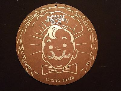 Vintage Slicing Cutting Board Sunrise Meats American Packing Company St. Louis