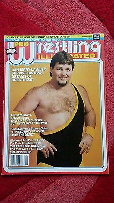 Pwi Wrestling Magazine August 1984 Jerry Lawler Front Cover.