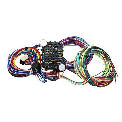 New 65-73 Ford Mustang 21 Circuit Universal Wiring Harness Wire Kit XL WIRES