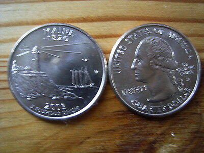 """2003p  usa state  quarter """"maine"""" dollar coin collectable"""