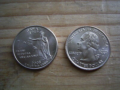 """2008p  usa state  quarter """"hawaii"""" dollar coin collectable"""