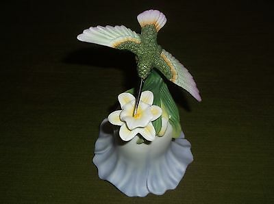 2000 Avon Fine Collectables Hummingbird and Flower Bell