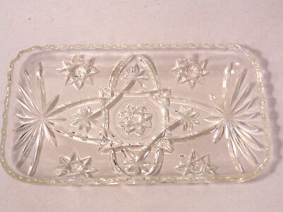 Starburst Crystal Glass Cut Candy Tray