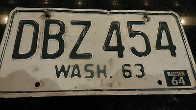 WASHINGTON State 1963/64 License Plate