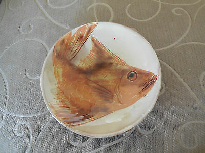 Handcrafted  Handmade Art Pottery Goldfish Plate / Bowl