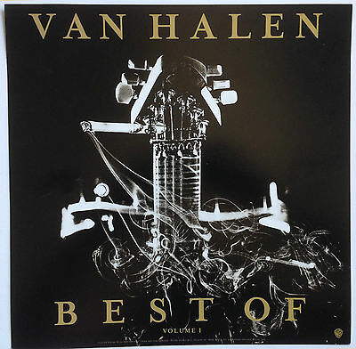 "Van Halen ~ Vintage Promo 12""x12"" Album Flat / Poster Double Sided - New!"