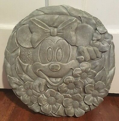 Disney Minnie Mouse Garden Stepping Stone Decoration Flowers New