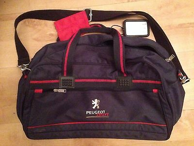 Peugeot Sport Holdall Bag Blue Used Good Condition Free Uk Postage