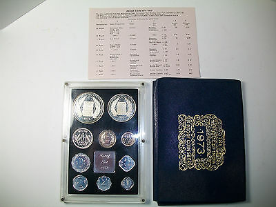 1973 India Proof Set - 10 Coins Set with COA and Case