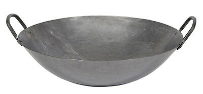 20in Cantonese Hand Hammered Steel Wok w/ Welded Handles