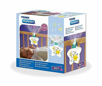 Tomy Starlight Dreamshow Cot Mobile Crib Toy Soother Projector Light White