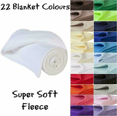 Thick Super Soft Fleece Baby Blankets 22 Colour Shawl Crib Moses Basket New Born