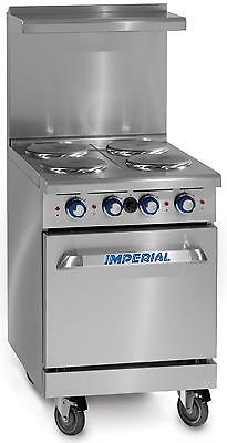 "Imperial Range 24""Restaurant Range 4 Round Electric Burners - Standard Oven - IR"