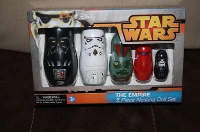 Star Wars Nesting Doll Set Empire 5 pc Sealed In Hand Babushka Dolls Matryoshka
